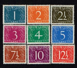 Nederlands Nieuw Guinea 1950 serie cijfer NVPH 1-9