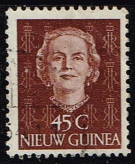 Nederlands Nieuw Guinea 1952 Koningin Juliana 45 cent gestempeld NVPH 15