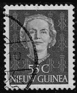 Nederlands Nieuw Guinea 1952 Koningin Juliana 55 cent gestempeld NVPH 17
