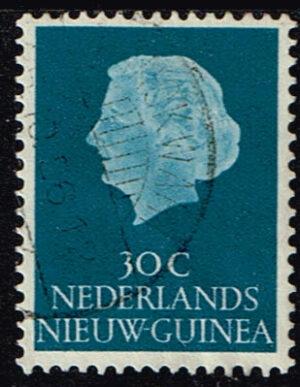 Nederlands Nieuw Guinea 1954-1960 Koningin Juliana 30 cent gestempeld NVPH 31