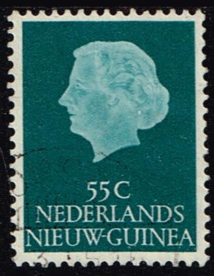 Nederlands Nieuw Guinea 1954-1960 Koningin Juliana 55 cent gestempeld NVPH 34