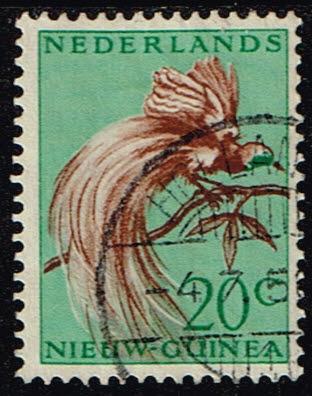 Nederlands Nieuw Guinea 1954 Paradijsvogels 20 cent gestempeld NVPH 29