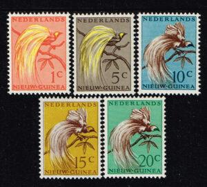 Nederlands Nieuw Guinea 1954 Paradijsvogels NVPH 25-29