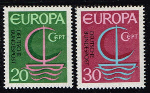 Europazegels Duitsland 1966 Europa Michel nr 519-20