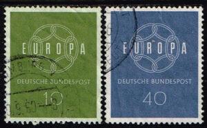 Europazegels Duitsland (BRD) 1959 Europa gestempeld Michel Nummer 320-321