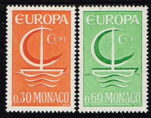 Europazegels Monaco1966 Europa Michel Nummer 835-836