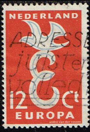 Europazegels Nederland 1958 Europa 12 cent gestempeld NVPH 713