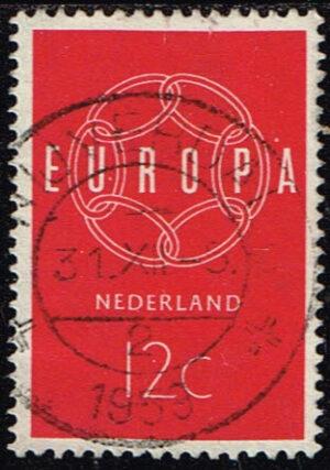 Europazegels Nederland 1959 Europa 12 cent gestempeld NVPH 727