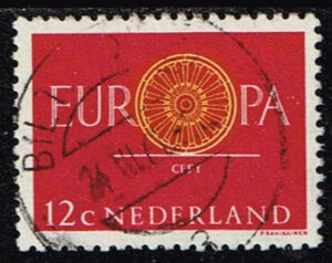 Europazegels Nederland 1960 Europa 12 cent gestempeld NVPH 745