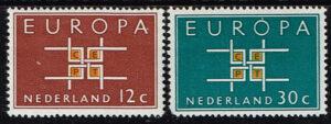 Europazegels Nederland 1963 Europa NVPH 800-801