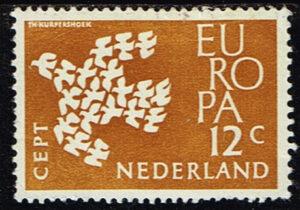 Europazegels Nederland1961 Europa 12 cent NVPH 757