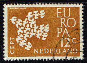 Europazegels Nederland1961 Europa 12 cent gestempeld NVPH 757