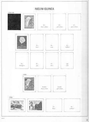 Nederlands Nieuw Guinea 1950-1962 Davo voordruk albumbladen zonder postzegels