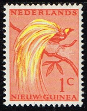 Nederlands Nieuw Guinea 1954 Paradijsvogels 1 cent NVPH 25