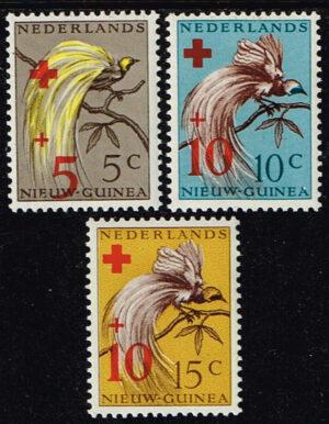 Nederlands Nieuw Guinea 1955 serie Rode Kruiszegels met toeslag NVPH 38-40