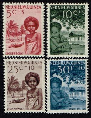 Nederlands Nieuw Guinea 1957 serie Kinderzegels NVPH 45-48