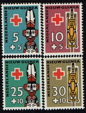 Nederlands Nieuw Guinea 1958 serie Rode Kruiszegels NVPH 49-52