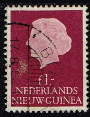 Nederlands Nieuw Guinea 1959 Koningin Juliana 1 gld gestempeld NVPH 37