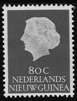 Nederlands Nieuw Guinea 1960 Koningin Juliana 80 cent NVPH 35