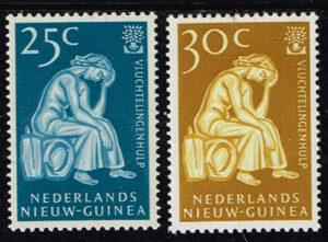 Nederlands Nieuw Guinea 1960 serie Vluchtelingenzegels NVPH 61-62