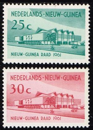 Nederlands Nieuw Guinea 1961 serie Nieuw Guinea Raad NVPH 67-68