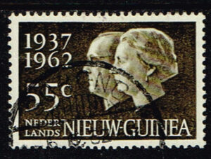 Nederlands Nieuw Guinea 1962 Zilveren Huwelijksfeest gestempeld NVPH 75