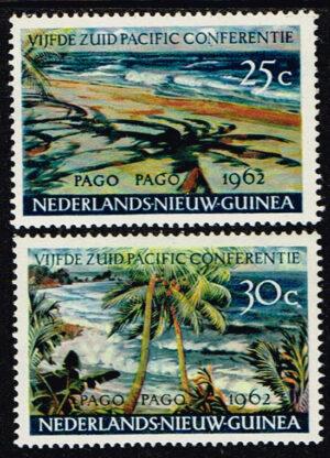 Nederlands Nieuw Guinea 1962 serie Pago Pago NVPH 76-77
