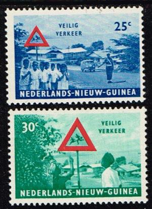 Nederlands Nieuw Guinea 1962 serie Veilig Verkeer NVPH 73-74