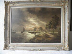 Willem Kroon zicht op IJsselmeer (1)
