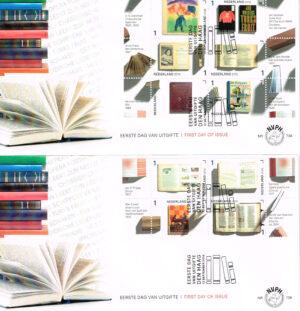 Nederland 2016 FDC Jaar van het boek onbeschreven E739 2 enveloppen