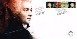Nederland 2016 FDC Mozart in Nederland onbeschreven E731