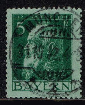 Duitsland (Bayern) 1911 Freimarke Geburtstag Luitpolds 5 Pf grun Michel nr 77