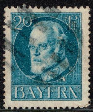 Duitsland (Bayern) 1916 Freimarke Ludwig III 20 Pf blau Michel nr 97 II