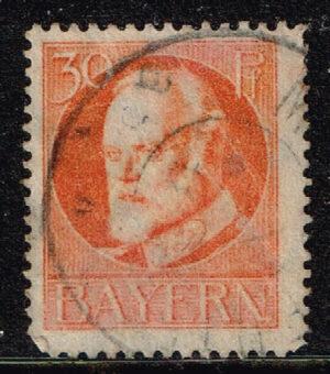 Duitsland (Bayern) 1916 Freimarke Ludwig III 30 Pf orange Michel nr 99 II
