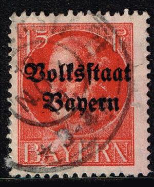 Duitsland (Bayern) 1919 Freimarke Ludwig III 15 Pf rot Michel nr 120
