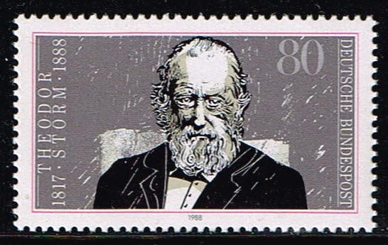 Duitsland (BRD) 1988 Todestag von Theodor Storm Michel nr 1371