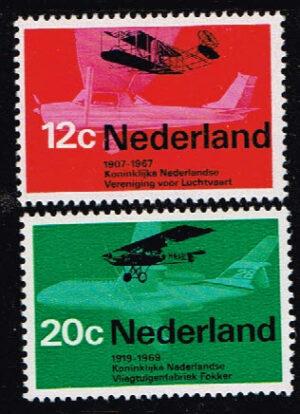 Nederland 1968 Luchtvaart NVPH 909-910