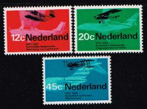 Nederland 1968 Luchtvaart NVPH 909-911
