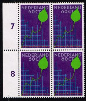 Nederland 1984 Businesscongres NVPH 1315 blok van 4 zegels