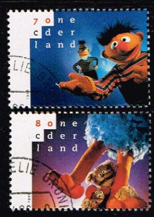 Nederland 1996 20 jaar Sesamstraat NVPH 1692-1693 gestempeld