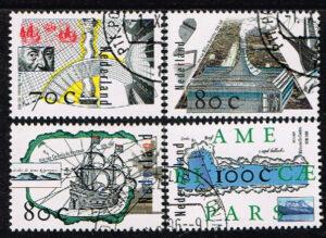 Nederland 1996 Ontdekkingsreizen NVPH 1694-1697 gestempeld