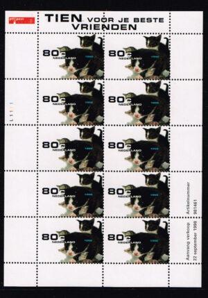 Nederland 1998 Natuur en Milieu poesjes velletje NVPH V1779