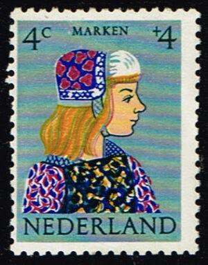 Nederland 1960 Kinderzegels klederdrachten 4+4ct NVPH 747