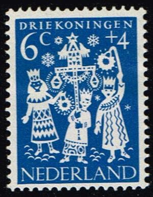 Nederland 1961 Kinderzegels folklore 6+4 ct NVPH 760