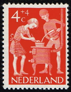 Nederland 1962 Kinderzegels vrije tijd 4+4ct NVPH 779