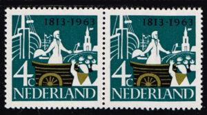 Nederland 1963 Onafhankelijkheid blok 2x4 ct NVPH 807