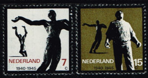 Nederland 1965 Verzetsmonumenten NVPH 836-837