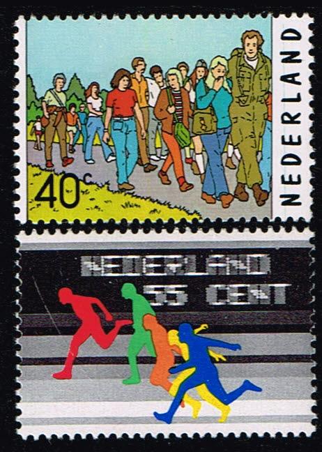 Nederland 1976 Sport NVPH 1092-1093