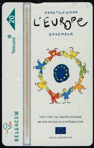 Telefoonkaart België 1997 Belgacom Construisons l'Europe ensemble 703B