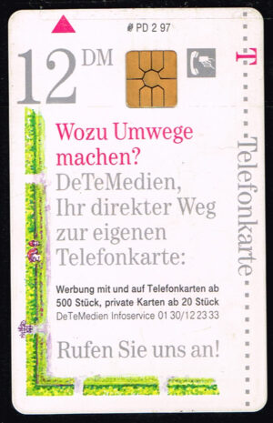 Telefoonkaart Duitsland 1997 Deutsche Telekom Wozu Umwege machen? PD 2 97